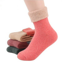 Free shipping women socks female sock Winter wool socks candy color