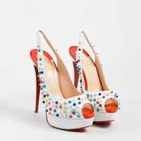 HCXX Multicolor Christian Louboutin   Lady Peep Sling Spikes 150   Heels