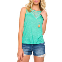 Simply Irresistible Lace Top - Teal