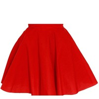 Red Full Circle Party skirt | Style Icon`s Closet