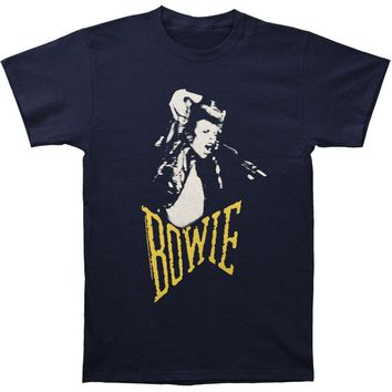 David Bowie Men's  Scream T-shirt Blue Rockabilia