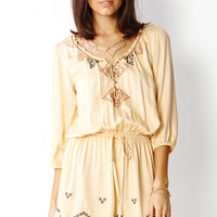 Peasant Embroidered Romper