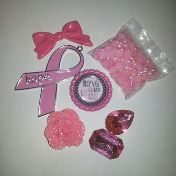 Breast Cancer Awareness Cabochon DIY Deco Kit