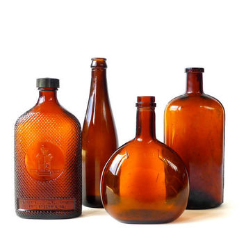 Instant Collection Antique Amber Bottles