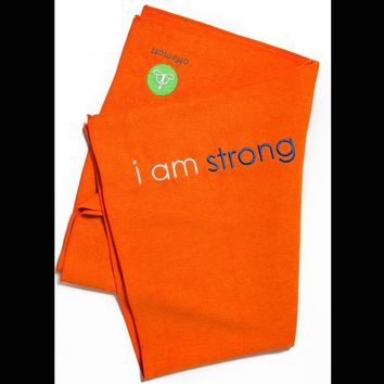 i am strong yoga towel