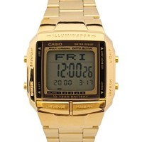 Casio DB-360GN-9AEF Digital Bracelet Gold Watch at asos.com