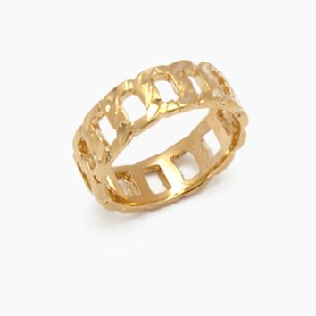 The Chain Link Ring - Gold
