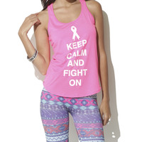 Keep Calm & Fight On Tank  | Shop Just Arrived at Wet Seal