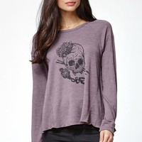 OBEY Arts Not Dead Long Sleeve T-Shirt - Womens Tee - Purple