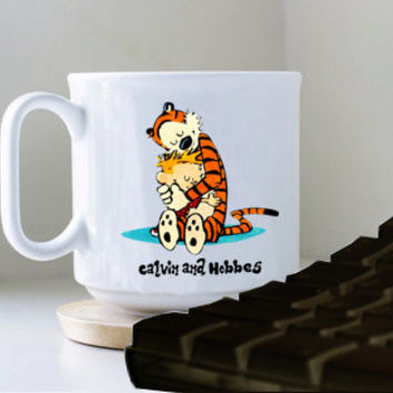 CALVIN AND HOBBES mug heppy mug coffee, mug tea, size 8,2 x 9,5 cm.