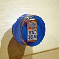 Budweiser Light: the king of beer for your man cave! one-of-a-kind bar cabinet drawer pull ...ready to ship...