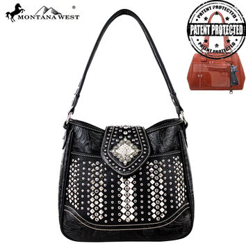 Montana West MW223G-8291 Bling Bling Concealed Carry Handbag
