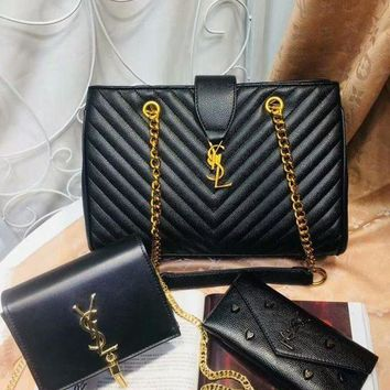 PEAPNT Year-End Promotion 3 Pcs Of Bags Combination (YSL Big Bag ,YSL Little Bag ,YSL Wallet)