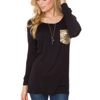 End Of The Line Pocket Top - Black