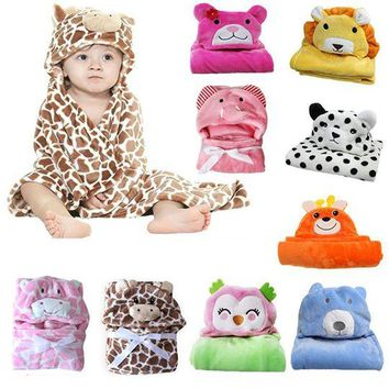 Animal Wraps (TM) Minky Hooded Blanket Wraps