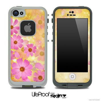 Sunrise Pink Flowers Skin for the iPhone 5 or 4/4s LifeProof Case