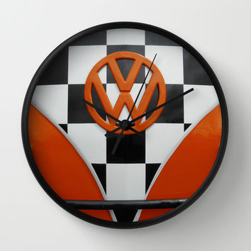 VW Checkers Wall Clock by Alice Gosling