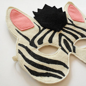 Zebra Kids Animal Mask Children Carnival Mask Dress by BHBKidstyle