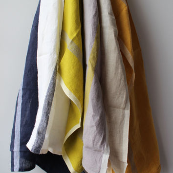 Laundered 100% Linen Tea Towels