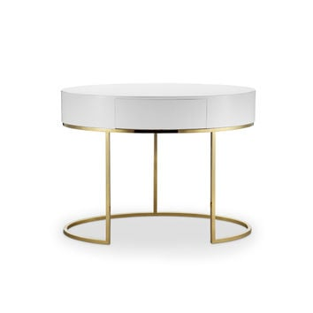 Juliet Writing Desk WHITE/GOLD