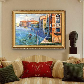 Original Oil Painting hand painted painting Venice Painting Cityscape painting Venice italy art Canvas Painting Wall art Wall pictures