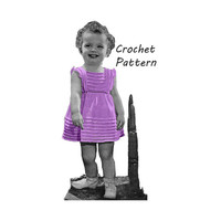 Toddler Girl's Party Dress Sizes 2 and 3 Crochet Pattern || Vintage 1940's || Reproduction PDF Instant Download Glamour Gal 5266