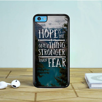 The Hunger Games Hope Quotes iPhone 5 5S 5C Case Dewantary