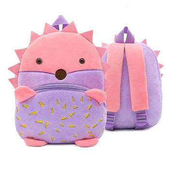 Toddler Backpack class Green Crocodile Stitch Kids Animal Backpack Baby Girls Boys Cute Cartoon School Bags Kindergarten Toddler Gifts Plush Schoolbags AT_50_3