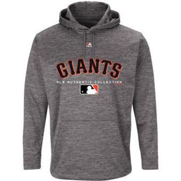 San Francisco Giants Majestic MLB Gray Ultra Streak Pullover Hoodie