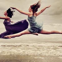 ballet, beach, dress, fashion, flying, girl - inspiring picture on Favim.com