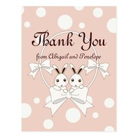 Kids Birthday | Girl Baby Shower Thank You Pink Postcard