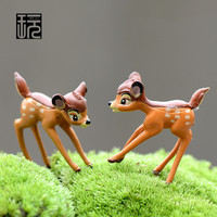 Resin Model Cute Deer Crafts Ornament Fairy Garden Miniature DIY Doll House/ Terrarium/ Home Desktop/ Micro Landscape Decoration