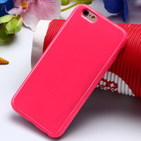 Shallow Rose Ultra Thin Soft TPU Silicon Candy Color Rubber Gel Phone Back Cover Case For Apple iPhone 5 5s SE 6s 6 Plus 6s Plus