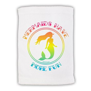 Mermaids Have More Fun - Beachy Colors Micro Terry Sport Towel 15 X 22 inches