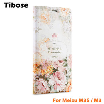 For Meizu M3S Case M3S Mini 3D Relief Painting Phone Cases Luxury Flip Leather Stand Phone Cover For Meizu M3 Leather Case Mini