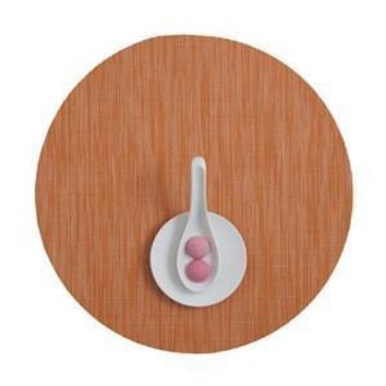 CHILEWICH Bamboo Round Placemat S/4   Mandarin