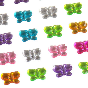 Butterflies Self Adhesive Gems Stick On 15mm 140 pcs Lot 5 Triveni Crafts Cards