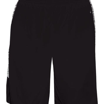 Badger 2195 Blend Panel Youth Short - Black Black Blend
