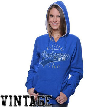 L.A. Dodgers Ladies Thermal-Lined Hooded Sweatshirt - Royal Blue