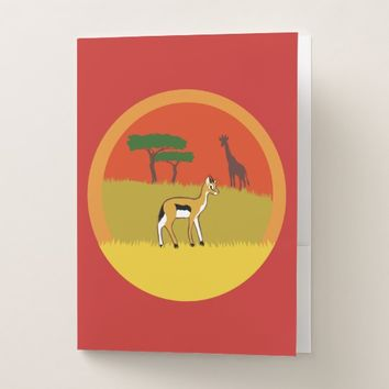 Little Gazelle Pocket Folder