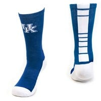 Mojo Kentucky Wildcats Champ 1/2-Cushion Performance Crew Socks - Women, Size: 9-11 (Blue)