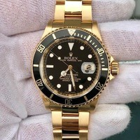 Rolex Submariner Yellow Gold 16618 Black Dial/Bezel w/ Box Only Pre Owned