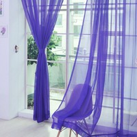 Romantic Bedroom Cheap Ready Made Finished  Curtain