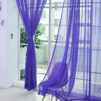 Romantic Bedroom Cheap Ready Made Finished Organza Child Window Cortina Curtain for Living Room wedding Home Decor