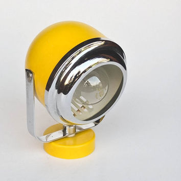 Atomic Yellow Wall Lamp / Sconce /  Spt Light / 70's Vintage Space Age Lighting