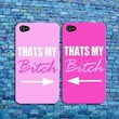 Funny BFF Best Friend Pink Cute Rubber Phone Case Cover iPhone 4 4s 5 5s 5c 6 6+