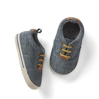 Chambray lace-up sneakers   Gap