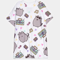 Dance Party Pusheen all-over print tee (unisex)