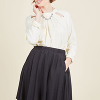 Get Your Foot in the Dorm Mini Skirt in Black | Mod Retro Vintage Skirts | ModCloth.com