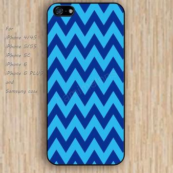 iPhone 6 case blue lighting blue chevron iphone case,ipod case,samsung galaxy case available plastic rubber case waterproof B200